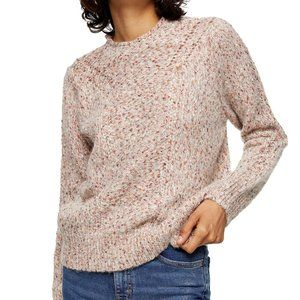 TOPSHOP Ivory Multi Pointelle Sweater M